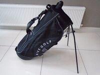 NIKE SLINGSHOT GOLF STAND BAG BLACK HARDLY USED BLACK