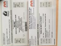 Two AC/DC tickets for Moncton Sept 5th!