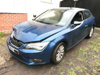 2014 SEAT LEON 1.6 TDI TECHNOLOGY PACK DAMAGED SALVAGE REPAIRABLE