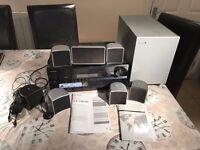 7.1 Surround Sound system ONKYO AMP & JAMO speakers