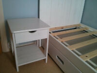 Junior Bed, Mattress and optional Bedside Table