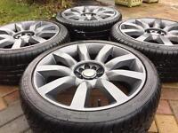 """18"""" VW Golf T4 Transporter Audi A3 A4 A6 Alloy wheels & 225/40/18 Tyres"""