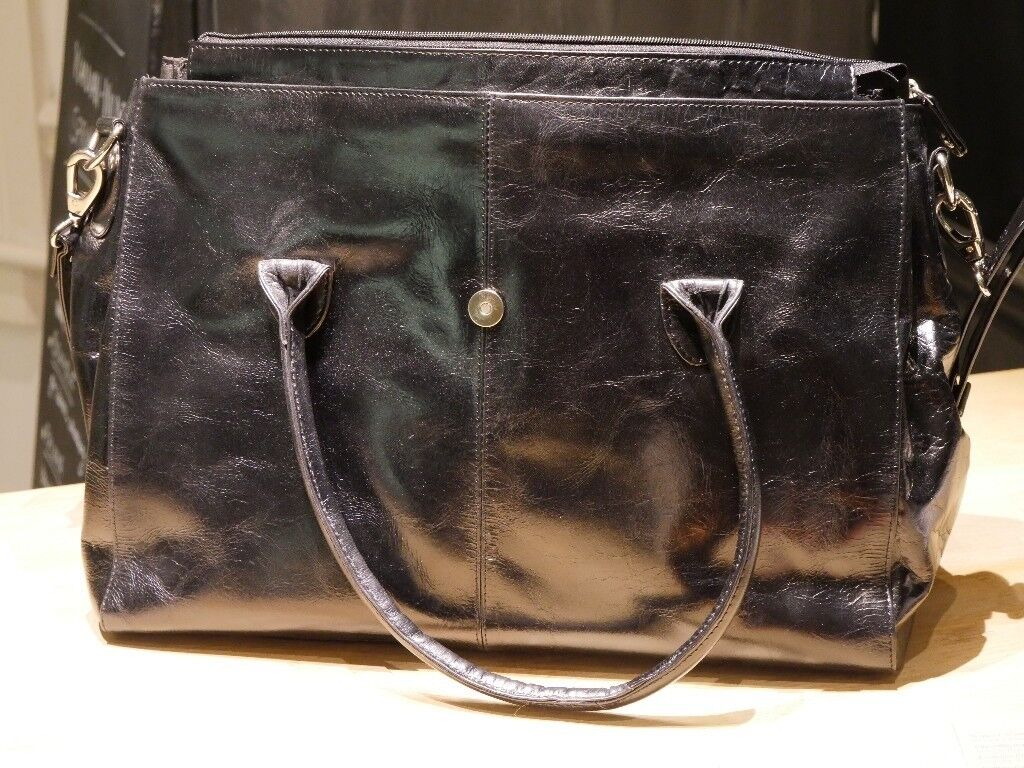 Black Leather Laptop Bag From Catwalk Collection Handbags Unused