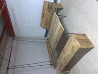 Reclaimed scaffold garden bench - Brixton | scaffolding/rustic/upcycle/farmhouse