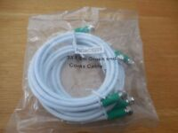 3 CO-AX CABLES 1.5 MTS