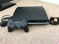 Hardly used PS3 with controller, leads and motion sensor/motion controllers and games!