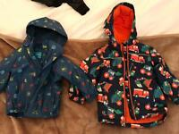 Boys aged 2-3 waterproof coats