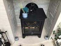 Snug 7 10 kw multi fuel defra approved wood burner with flue and chimney