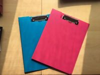 Joblot of 23 Clipboards (19) Pink & (4) Blue Hardly Used - £23