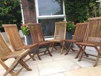 Teak chairs, Indoor or outdoor