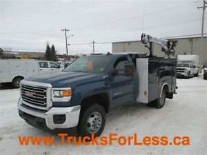 2015 gmc 3500HD LT 4X4, BODY + CRANE!!!