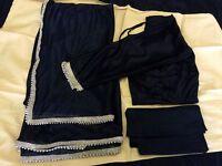 Indian Lycra Saree sari + Blouse +petticoat