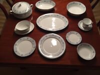 Dinner and Tea Service - Blue Hill by Noritake