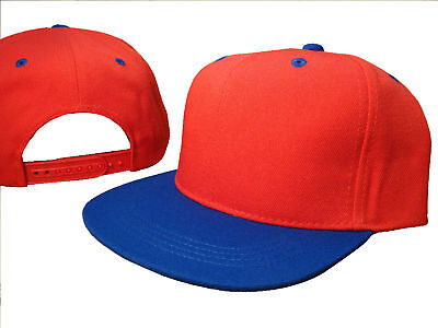 Ness Costume Halloween (Red Royal Blue Flat Bill Snapback Snap Back Cap Caps Hat Ness Halloween)