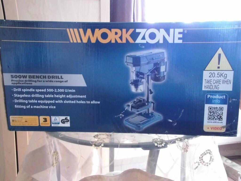Workzone 500w Bench Drill Brand New Still Boxed In Hedge