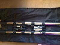 Static 50mm chrome x-pole / sports pole