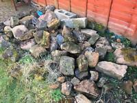 Large and small garden stones 90-100