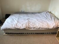 Slatted bed base with mattress - standard double