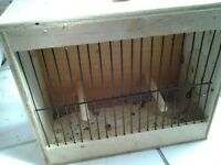 Small birds travelling cage