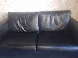 Black Leather sofa FREE