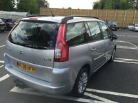 2008 CITROEN C4 GRAND PICASSO 1.8 PETROL 7 MANUAL SEATER SILVER 2 OWNERS 86 000 MILES