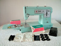 Singer 338 Semi-Industrial Twin Needle Pattern Cam Sewing Machine SEWS LEATHER Excellent Condition
