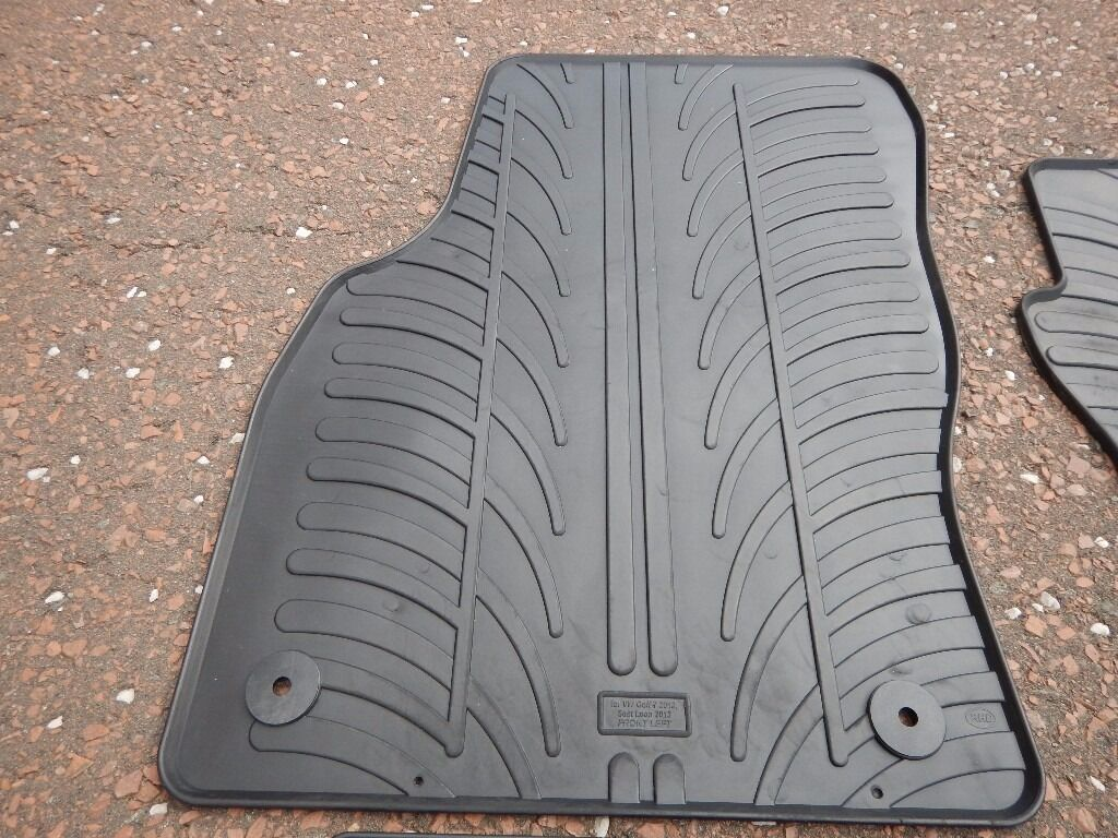 Rubber mats glasgow - Genuine Seat Leon 5f Rubber Mats Also Fit Golf Mk7 A3 Octavia In Shotts North Lanarkshire Gumtree