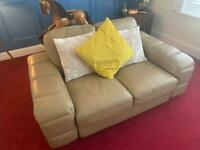 Leather 3 piece suite 2x2 seaters and 1x3 seater
