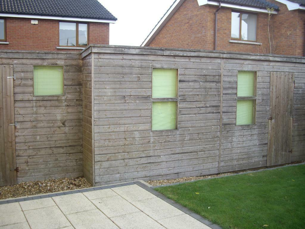 Large double garden shed in carrickfergus county antrim for Garden shed large