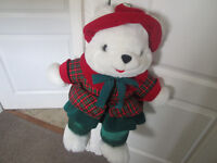 WHITE CHRISTMAS DRESSED GIRL TEDDY EXC CONDITION EDINBURGH WEST