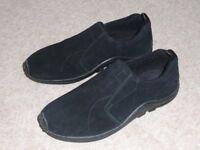 Lightweight Black Flexi Comfort Slip on Shoes