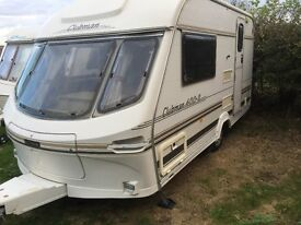 Luna Clubman 2 Birth Touring Caravan with Mover and Extras