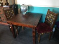 Dining table-solid wood with extension