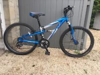 Apollo FS24 mountain bike - full suspension, Shimano gears, front disk brakes - for youngster