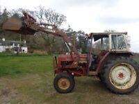 International 475 tractor with power loader rare model Perkins engine good runner