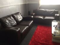sofa real leather 2 x 2 seater
