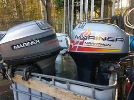 2x 40 hp mariner longshafts