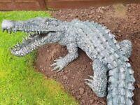 Bronze crocodile garden water feature/ sculpture