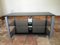 Black Glass TV Stand VGC