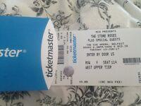 2 Stone roses tickets Belfast 13/6/17