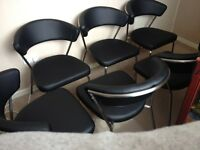 Set of six Marilyn chairs