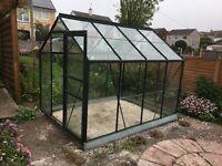 Greenhouse 8x6 green aluminium