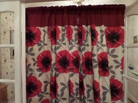 curtains, two pairs. as new 25 each pair.