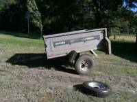 Small tipping car trailer