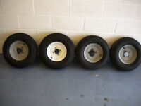 Four trailer wheels for sale