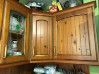 Pure oak kitchen units in very good condition £400 ONO