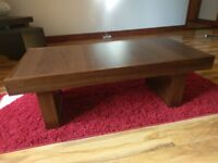 Walnut lounge furniture set - lamp table/coffee table/console table/entertainment unit