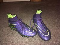 Nike purple hypervenom sock boots size 6.5 UK