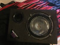 Kenwood KAC-5204 subwoofer with bass alpine speaker