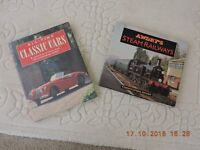 Two Vintage Books All Time Classic Cars & Awdreys Steam Engines - Excellent Condition